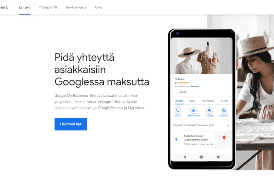 Google My Business opas